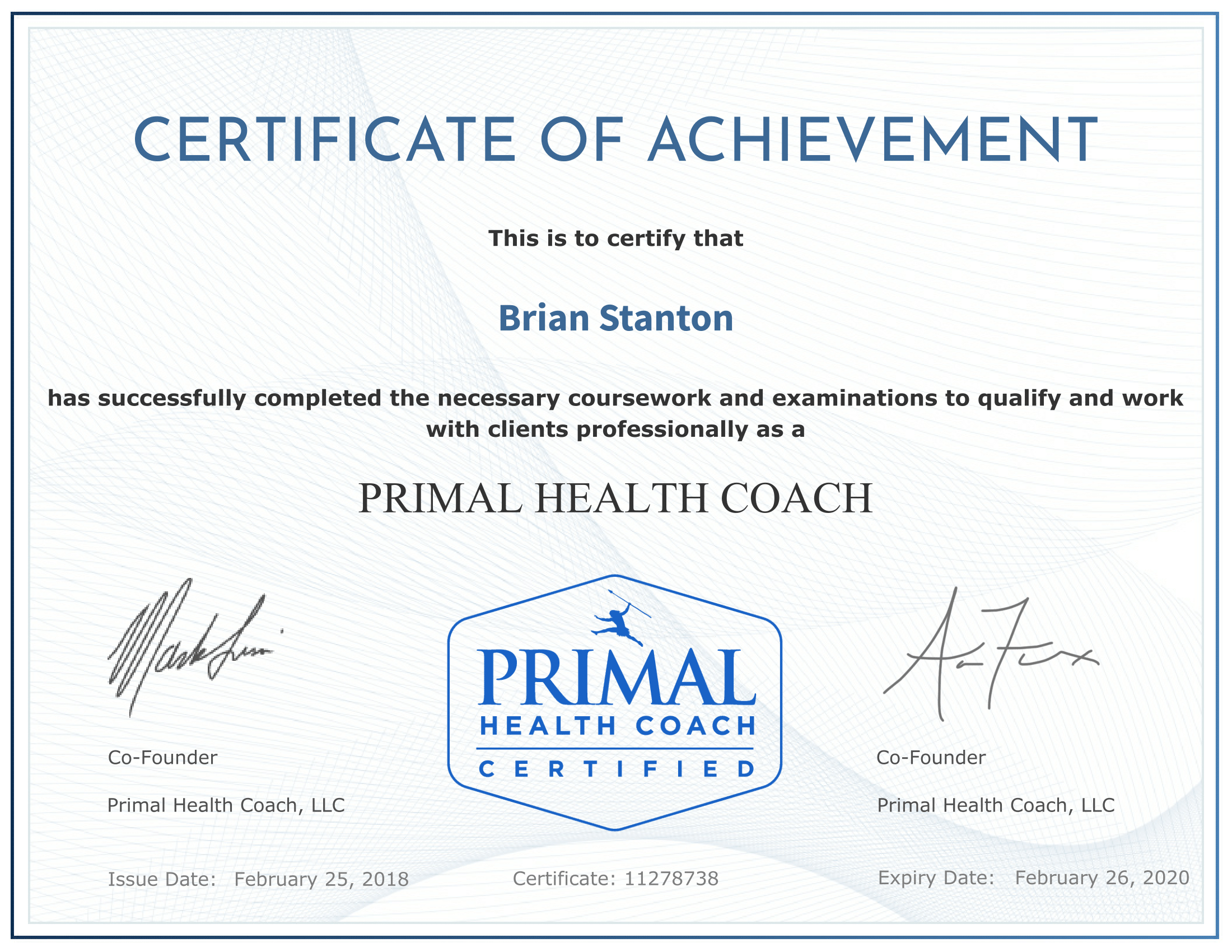 Health coaching primal sapien health coaching with brian stanton malvernweather Choice Image